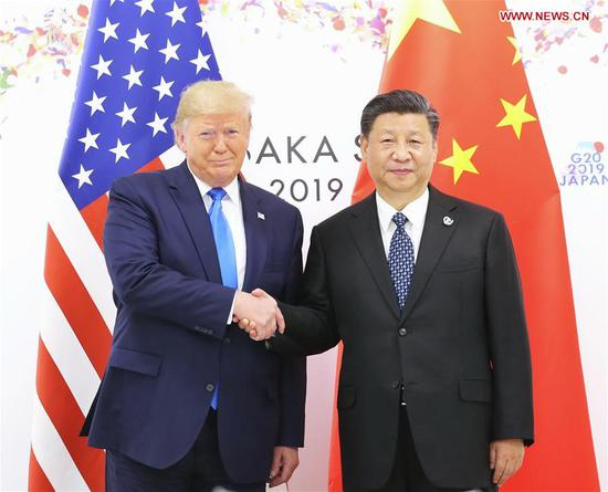 Xi, Trump meet on sidelines of G20 Summit in Japan