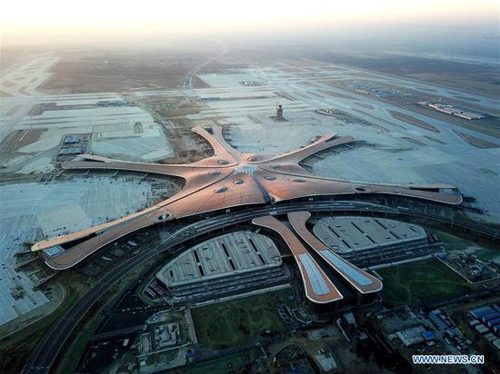 Beijing's new int'l airport completes construction
