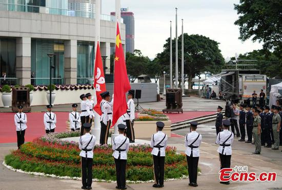 Flag-raising ceremony celebrates 22nd anniversary of HK's return to motherland