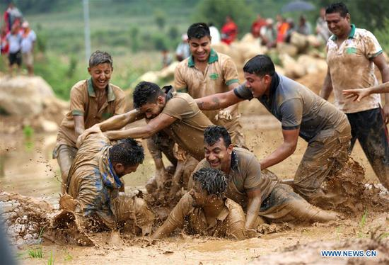 National Paddy Day festival held in Dhading, Nepal