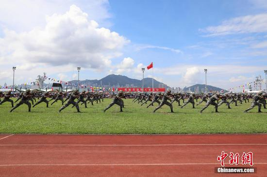 PLA Hong Kong garrison holds open day to celebrate anniversary