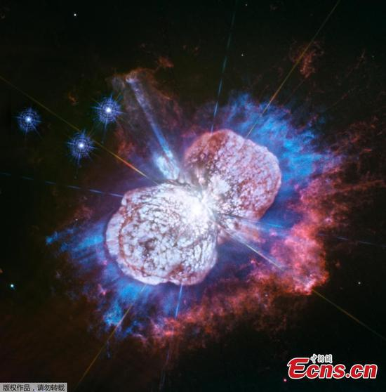 This Hubble Space Telescope image of the giant, petulant star Eta Carinae is yielding new surprises. (Photo/Agencies)