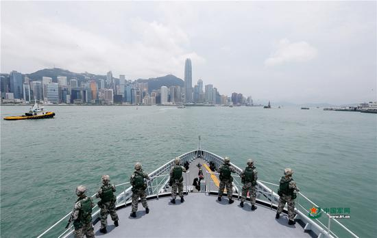 Hong Kong's PLA garrison holds emergency response drill