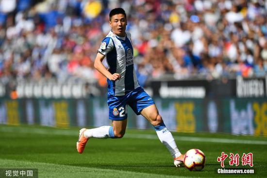 Back to work for Wu Lei's Espanyol
