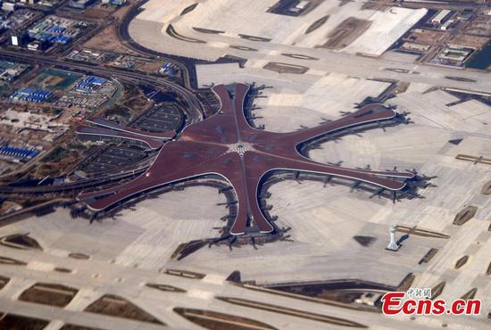Aerial view of Beijing Daxing International Airport