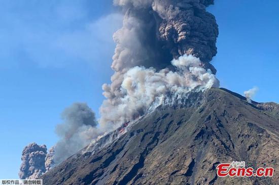 Italy's Stromboli volcano erupts