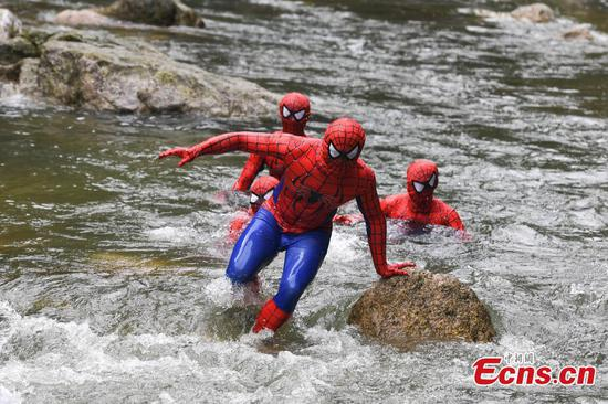 Race against Spiderman in forest park
