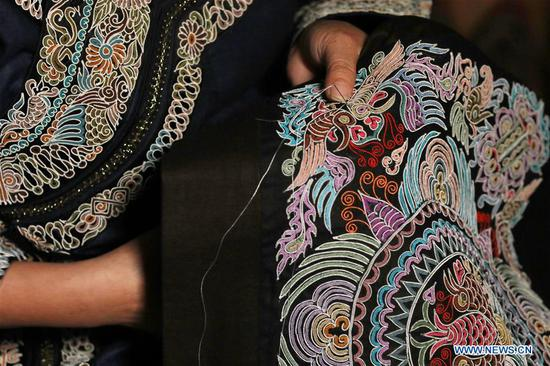 National intangible cultural heritage: horse tail embroidery of Shui people