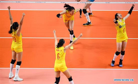 China beats Turkey 3-1 to finish third in FIVB Women's VNL finals