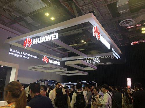 A view of the Huawei stand during the Innovfest Unbound tech show held in Singapore from Thursday to Friday.  (Photo: Zhang Hongpei/GT)