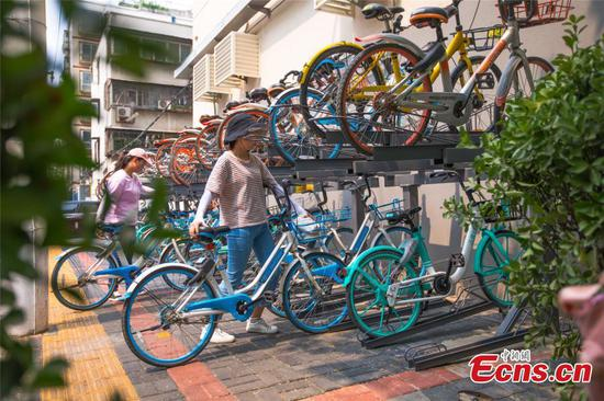 New bike parking approach in Zhengzhou