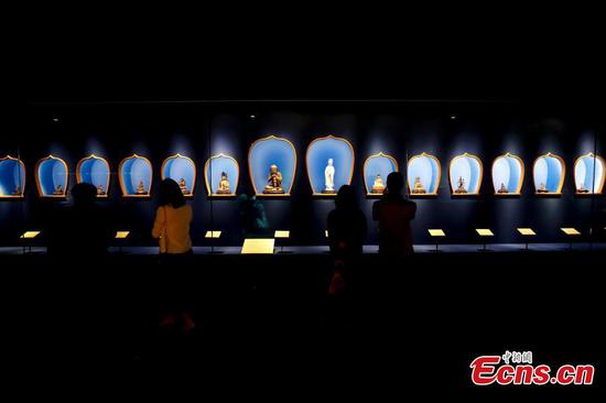 Artifacts from the collection of the Vatican Museums are on show at the Palace Museum, May 28, 2019. (Photo/China News Service)