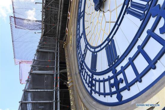 """伦敦地标性建筑""""大笨钟""""(Big Ben)静默160年,因为修复工作仍在继续"""