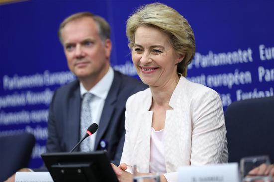 European Commission female president-elect vows to boost economy
