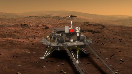 Artists' impressions released by the State Administration of Science, Technology and Industry for National Defense on Aug. 23, 2016, illustrate the design of the nation's Mars probe and rover. (Photo/Xinhua)