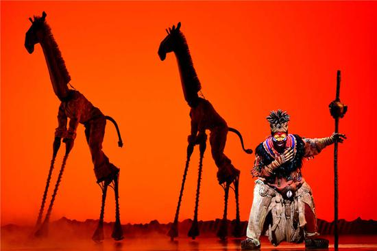 Rehearsal of Broadway musical 'The Lion King' in Taipei