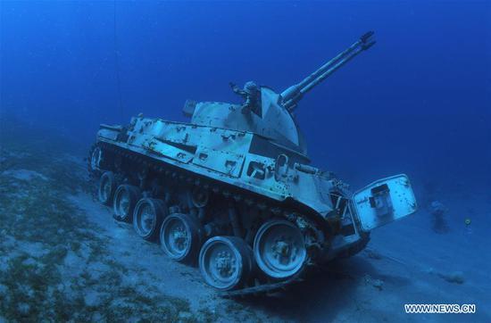 水下军事博物馆在约旦吸引游客