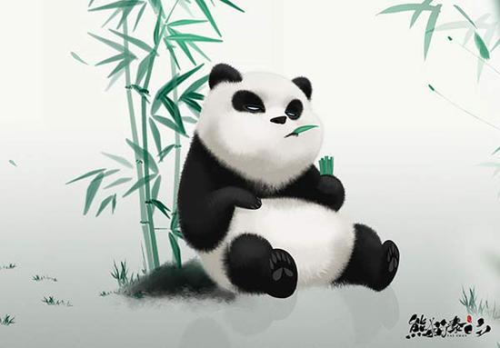 The new panda-themed film combines computer animation and Chinese wash painting technique. (Photo/China Daily Photo)