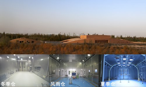A simulation test laboratory cabin used to protect the Mogao Grottoes (Photo/Courtesy of Dunhuang Academy)