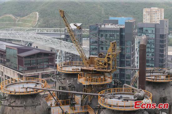 北京关闭的钢铁厂为冬季奥运会改造