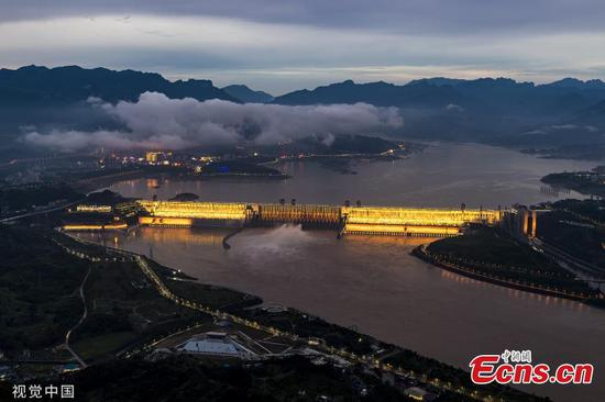 Three Gorges Dam discharges water ahead of flood