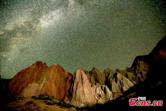 Starry night in north-western Chinese geopark