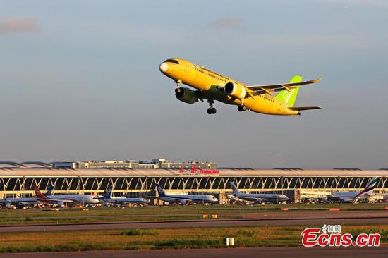 Fourth C919 jet makes maiden test flight