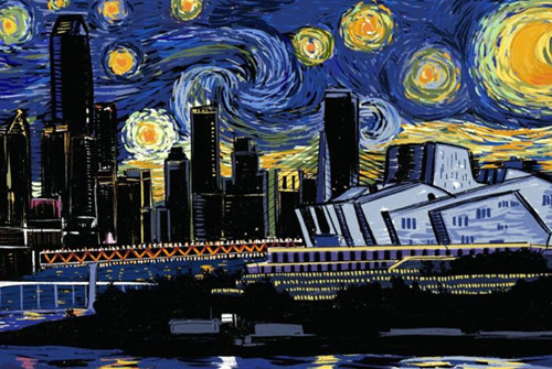 Chongqing meets Van Gogh in creative paintings of city
