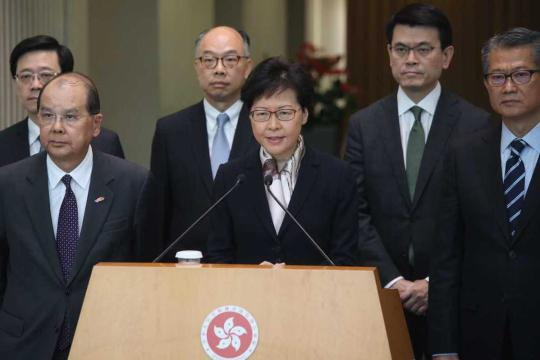 Hong Kong's Chief Executive Carrie Lam Cheng Yuet-ngor speaks at a news conference on Aug. 5, 2019. (Photo/chinadaily.com.cn)