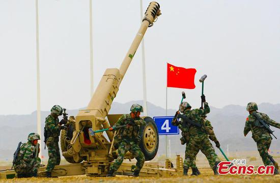 新疆正在进行2019年国际陆军运动会