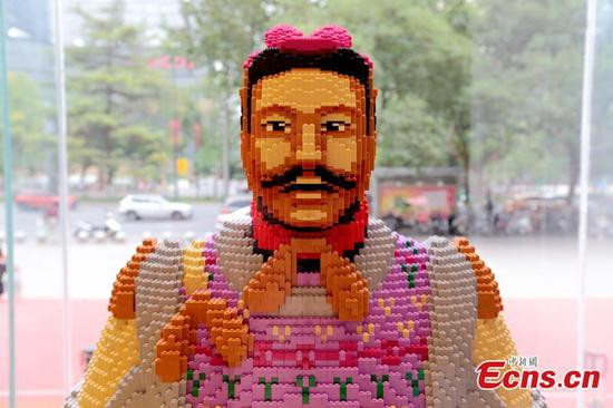 56,000 Lego bricks used to create Terracotta Warrior replica