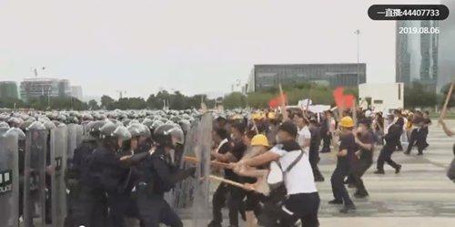 Shenzhen police drill mirrors Hong Kong protests