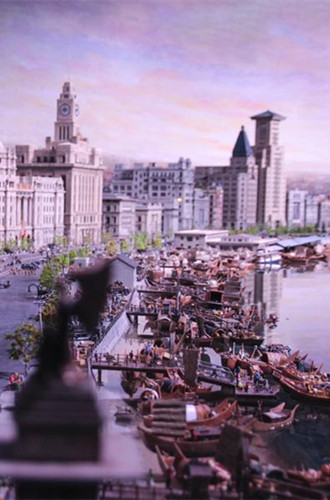 Miniature exhibition showcases Shanghai and European landmarks