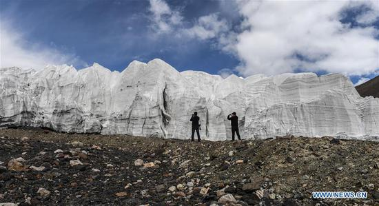 Scenery of glacier in Rutog County, SW China's Tibet