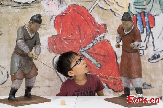 Art exhibition reveals sports from ancient times