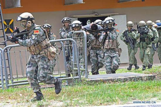 ``2019年运动合作''中新军队联合训练在新加坡结束