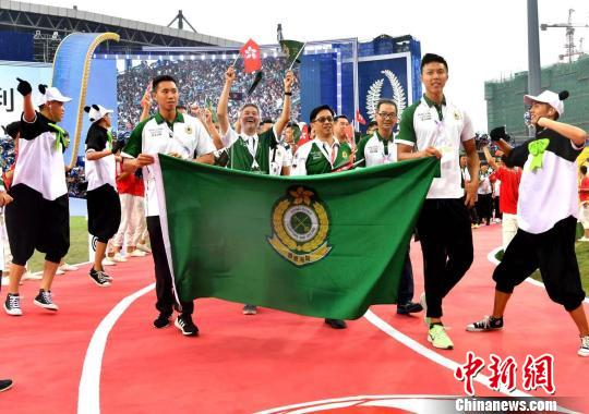 HK delegation gets standing ovation at World Police and Fire Games