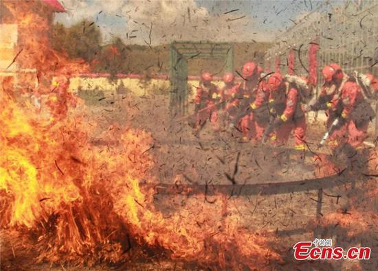 Firefighters in 20-day intensive training