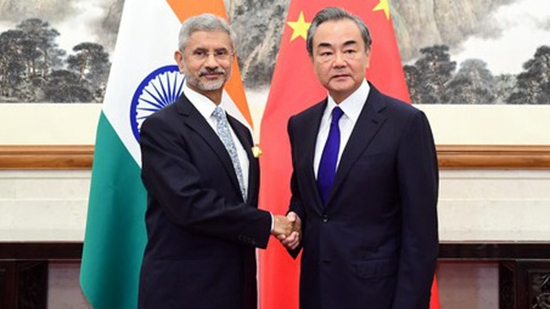 Chinese State Councilor and Foreign Minister Wang Yi (R) meets with visiting Indian External Affairs Minister Subrahmanyam Jaishankar in Beijing, August 12, 2019. /Photo via fmprc.gov.cn