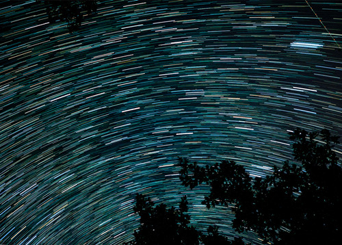 Perseid meteor shower lights up the sky