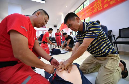 Chinese in need of first aid training