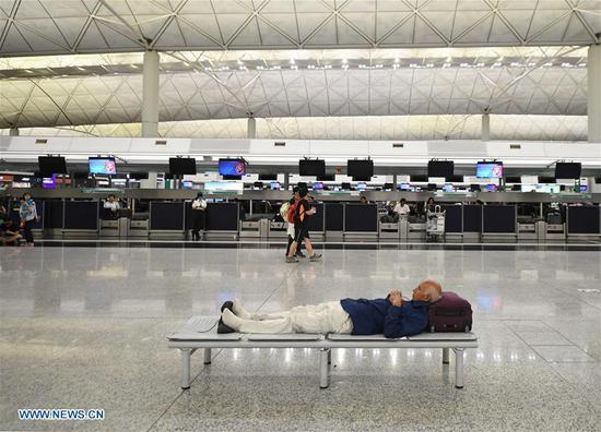 Hong Kong cancels all flights as protesters disrupt airport