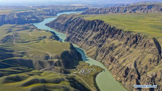 Scenery on Kalajun grassland in Tekes County, Xinjiang