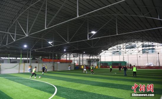 A football court in Hangzhou, Zhejiang Province. (File photo/China News Service)