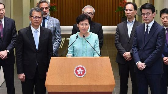 Carrie Lam made another call for calm in a Facebook post, two days after chaos erupted at the Hong Kong International Airport.(Photo/CGTN)