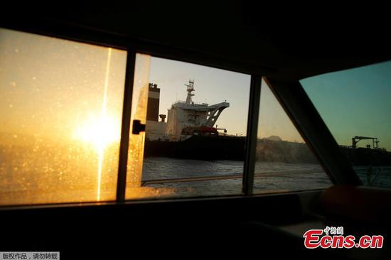 Seized oil tanker leaves Gibraltar
