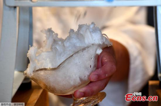 Take a bite of Japan's kakigori dessert made with natural ice