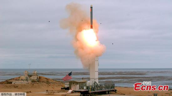 U.S. conducts first cruise missile test since withdrawal from INF Treaty with Russia