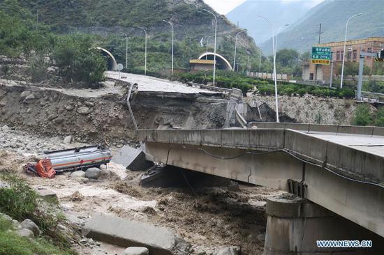 大雨引发汶川致命的泥石流