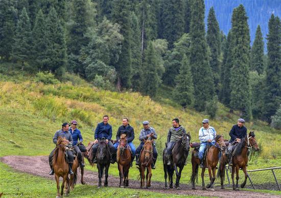 新疆西北地区草原管理者的图片故事